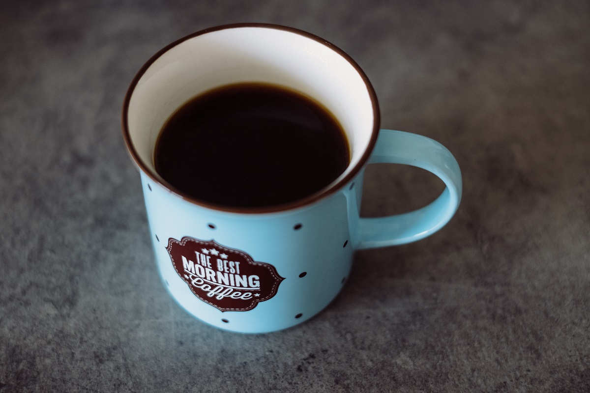 black coffee in a retro mug 20